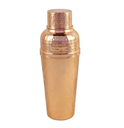 Premium Quality Hammered 100% Pure Copper Cocktail Shaker With Built-In Strainer - A Great Bar Tool For Your Favorite Bartender- by Alchemade
