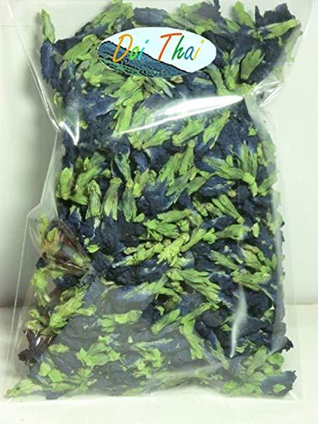 Organic Dried Butterfly Pea Thai Herbals Blue Tea 100 Gram.