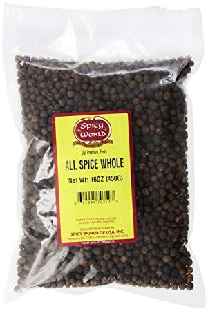 Spicy World Whole Allspice, 16 oz