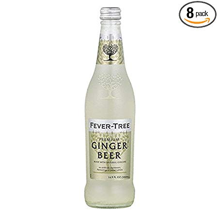 Fever-Tree Premium Ginger Beer, 16.9 Ounce Glass Bottles (Pack of 8)
