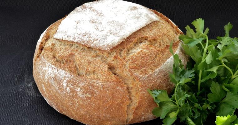 Artisan Whole Wheat Bread- Домашен хляб с пълнозърнесто брашно.