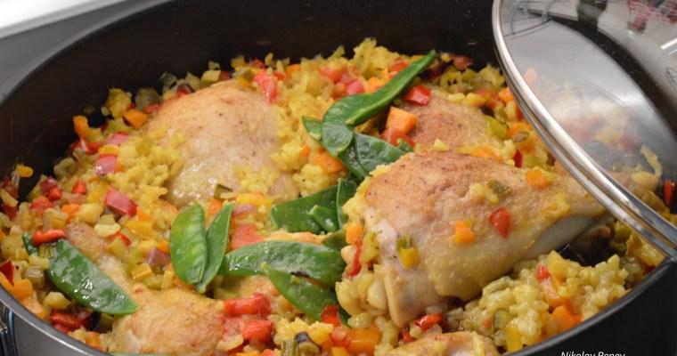 Chicken and Rice Bulgarian Style- Пиле с ориз