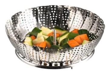 Cuisson de légumes en panier marguerite