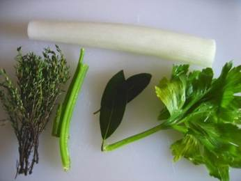 Ingrédients de bouquet garni
