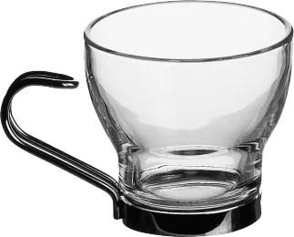 Tasse en verre et inox