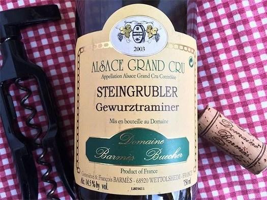 Alsace grand cru Steingrubler Gewurztraminer
