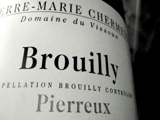 Étiquette de Brouilly Domaine de Vissoux
