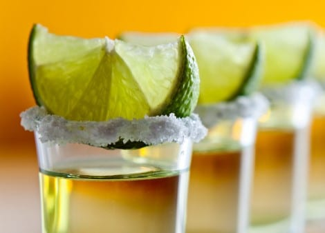 Tequila, lime et sel fin
