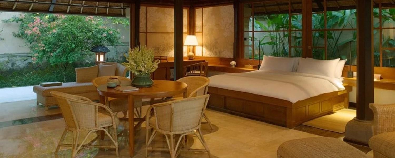 Suite de l'hôtel Amandari