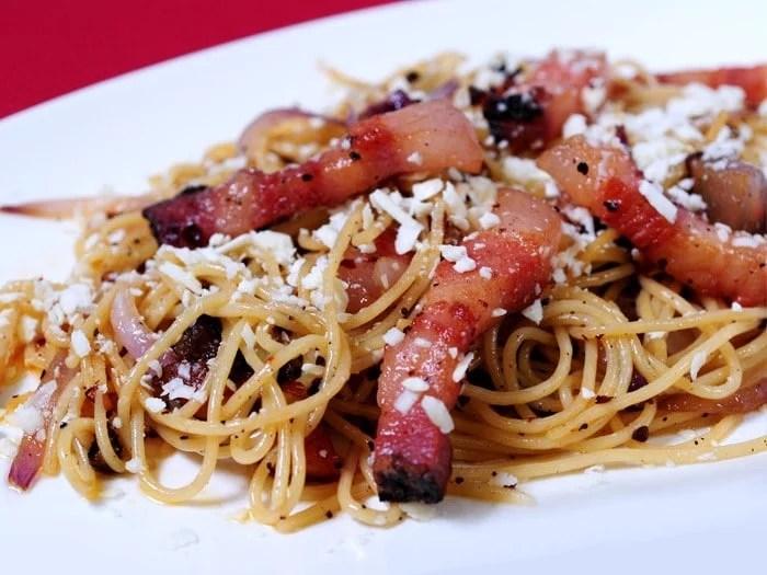 Spaghettis alla gricia