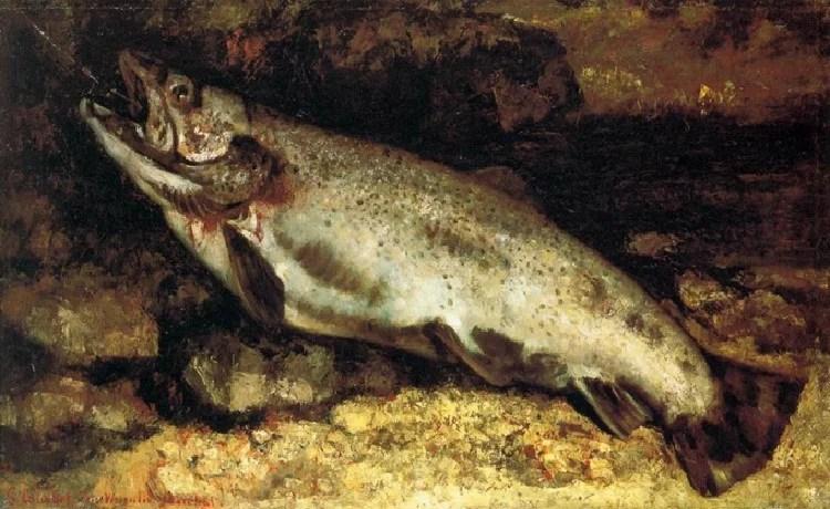La Truite de Gustave Courbet - Musée d'Orsay - Paris