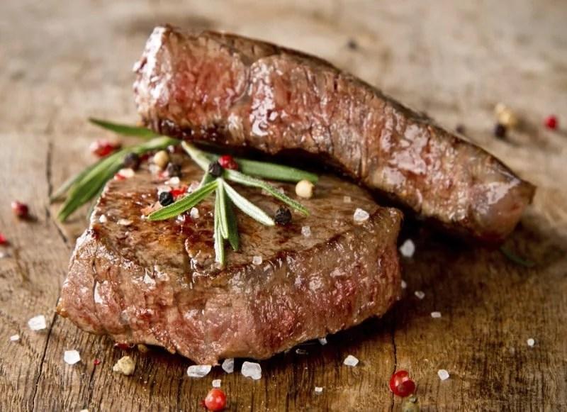 Viande de bœuf bien cuite