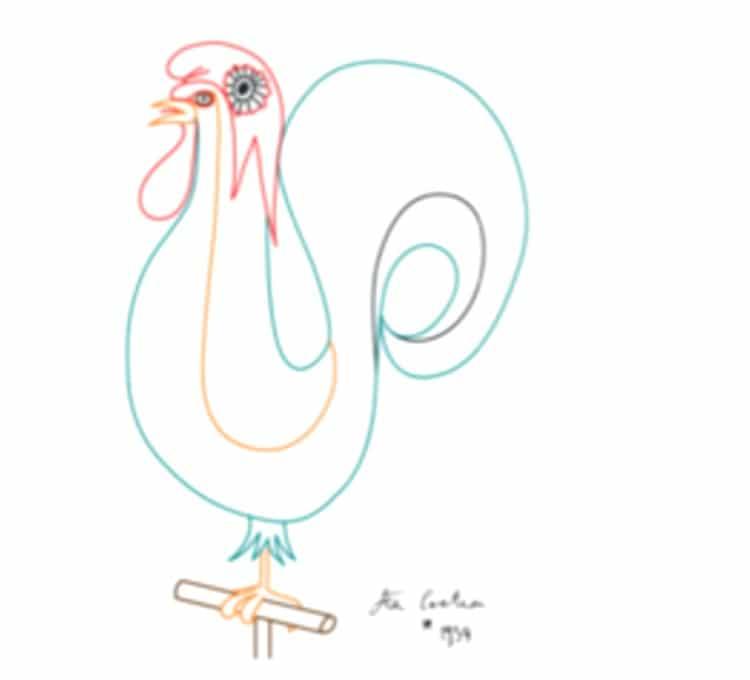 Le coq de Jean Cocteau