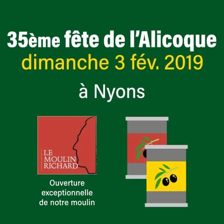 Affiche de la fête de l'Alicoque à Nyons