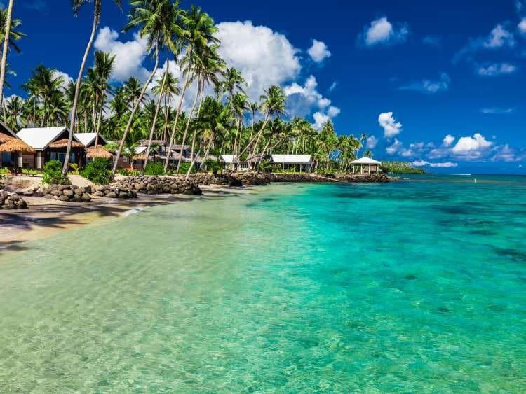 Lagon aux îles Samoa