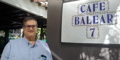 Pedro Masoliver anfitrión en Café Balear