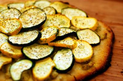 pizza de calabacines sin gluten