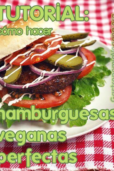 Cómo hacer hamburguesas veganas perfectas