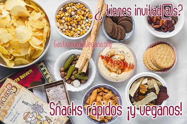 Snacks rápidos y veganos