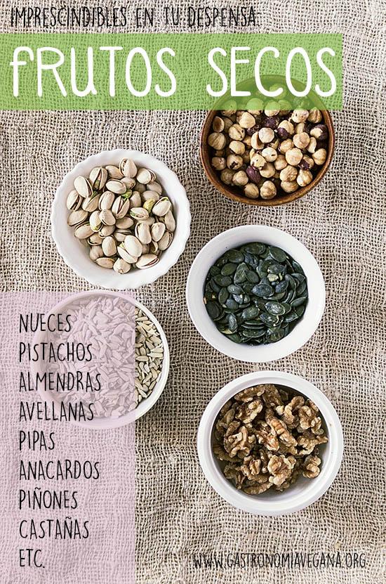 Alimentos imprescindibles en una despensa vegana: frutos secos -- GastronomiaVegana.org