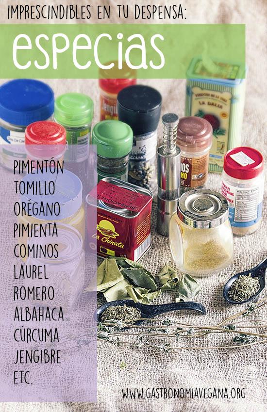 Alimentos imprescindibles en una despensa vegana: especias y hierbas -- GastronomiaVegana.org