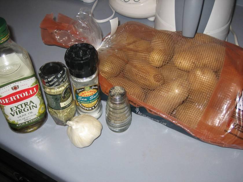 Roast potato ingredients