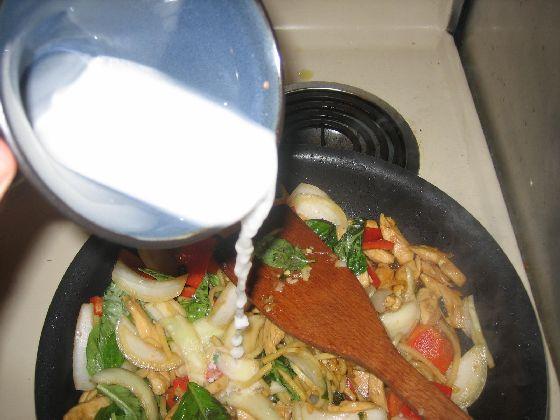 thai basil chicken flour