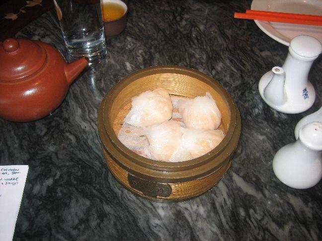 Hong Kong Tea House and Restaurant steamed prawn dumpling