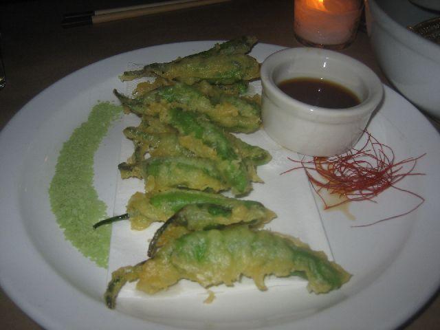 takashi tempura shishito peppers