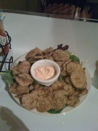 bay leaf fried pickles