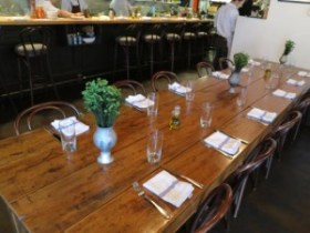 copper onion communal table