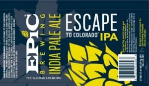 epic escape to colorado label