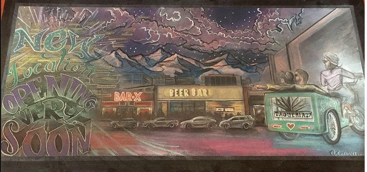 chalk art from taqueria 27 downtown