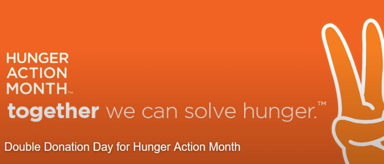 hunger action month at even stevens