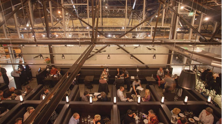 current fish and oyster dining room from above