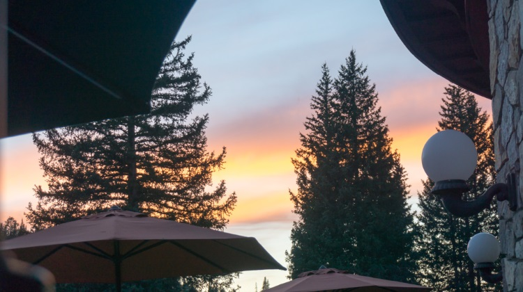 Taste Of The Wasatch 2015 dining at honeycomb grill sunset
