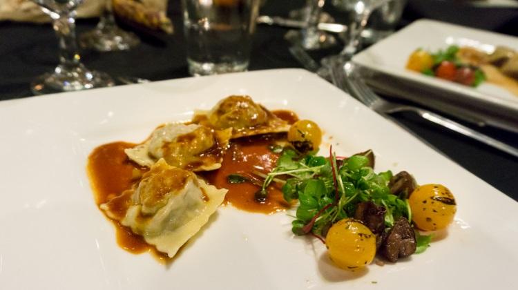 feast of five senses 2015 cafe bon appetit short rib ravioli