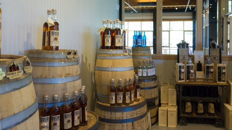 High West Distillery: whiskey shop
