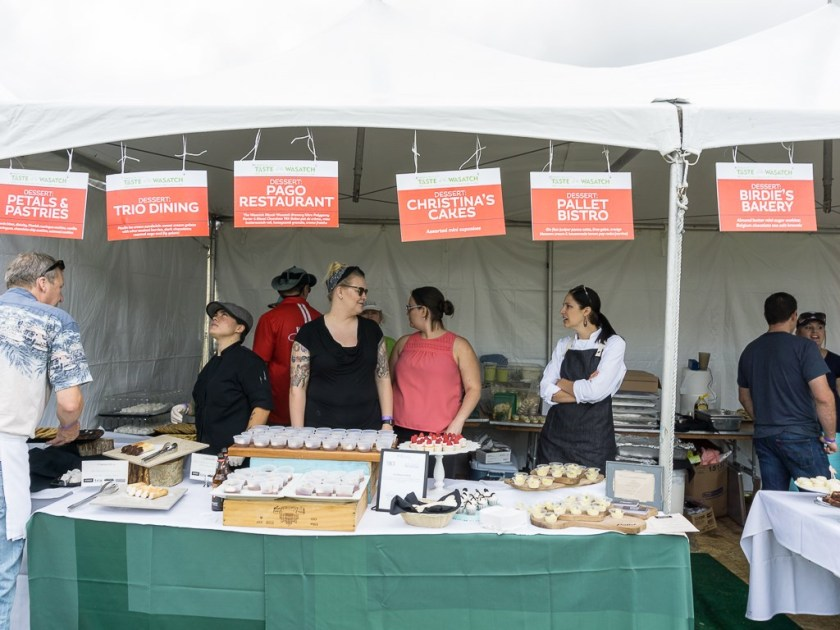 Taste Of The Wasatch 2016 - Dessert tent and chefs aplenty