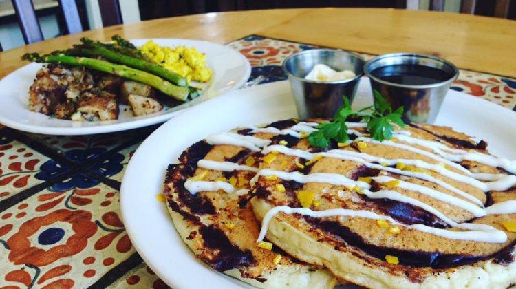 Sages Cafe - cinnamon swirl pancakes for brunch. Credit Sages Cafe