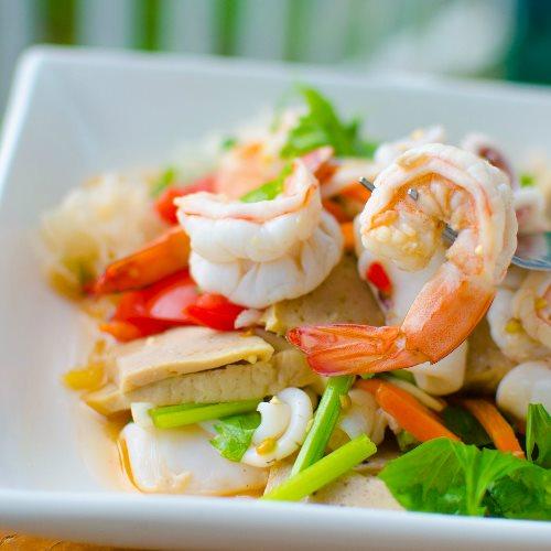 Ying's Thai Sushi - spicy seafood salad. Credit, Ying's Thai Sushi