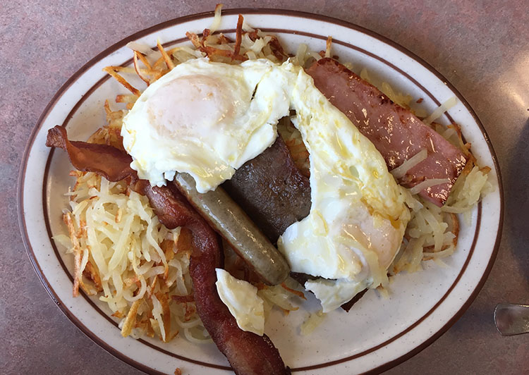 The Other Place - loaded breakfast plate