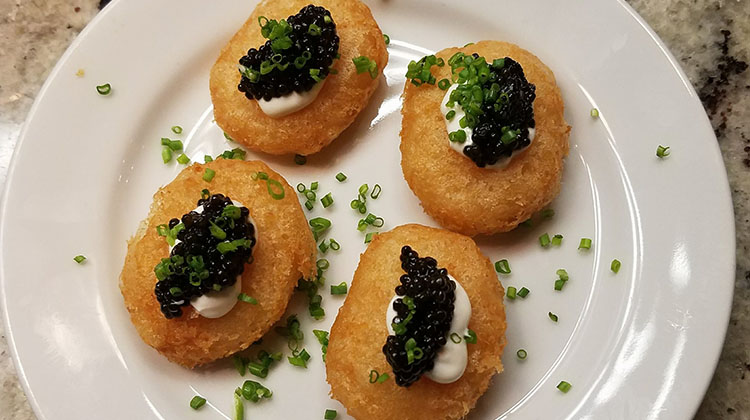 Avenues Bistro On Third - caviar pillows. Credit Avenues Bistro