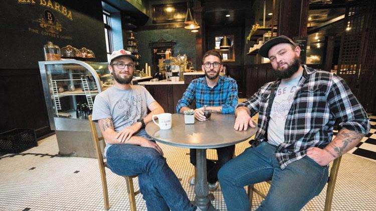 Josh Rosenthal, Joe Evans and Levi Rogers of La Barba (Slug Mag)