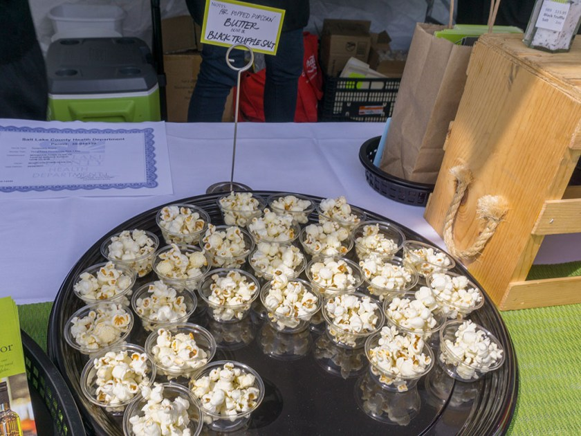Taste Of The Wasatch 2017 - Mountian Town Olive oil pocorn with truffle