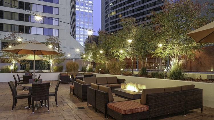 Trofi patio at Hilton downtown SLC