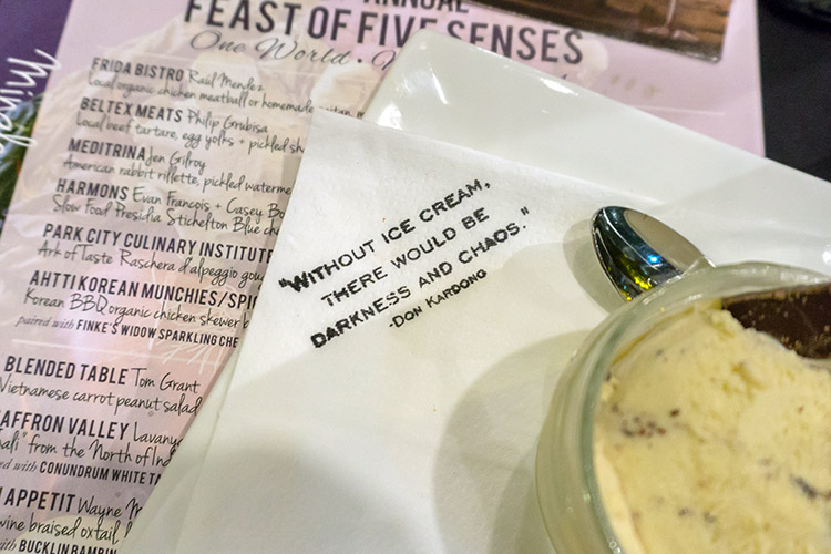 Feast Of The Five Senses - wise words in 2017