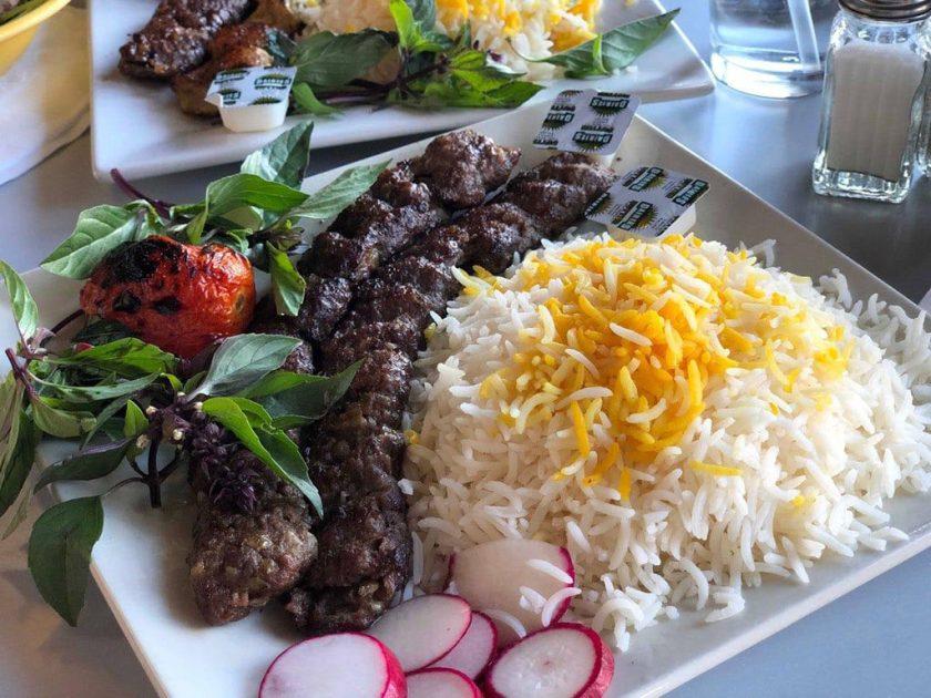Sumac Cafe - beef kebob and rice (Sumac Cafe)