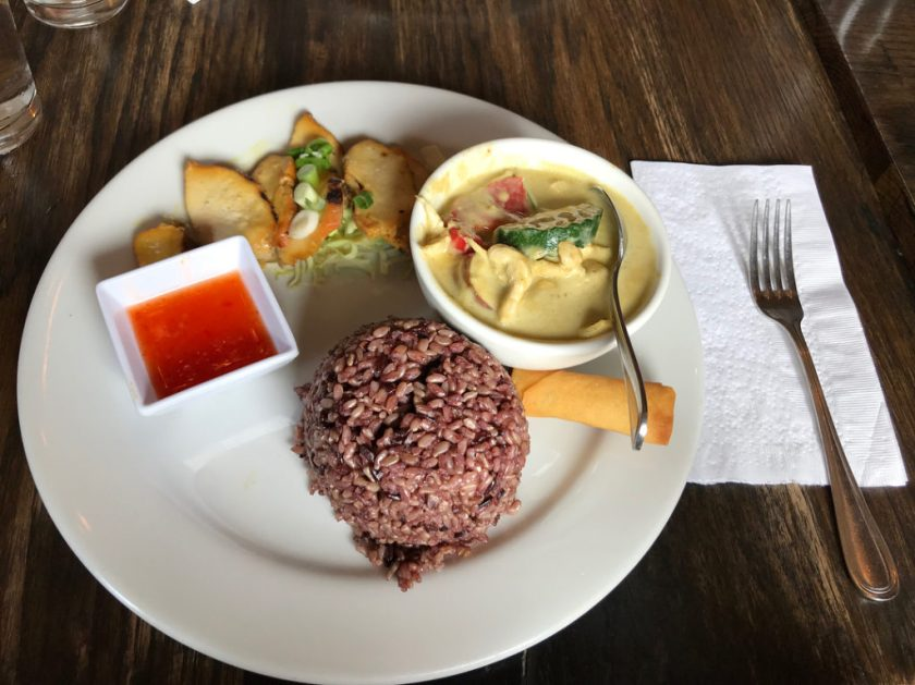 Skewered Thai - lunch combo with lemongrass chicken (iandmyflipflops)