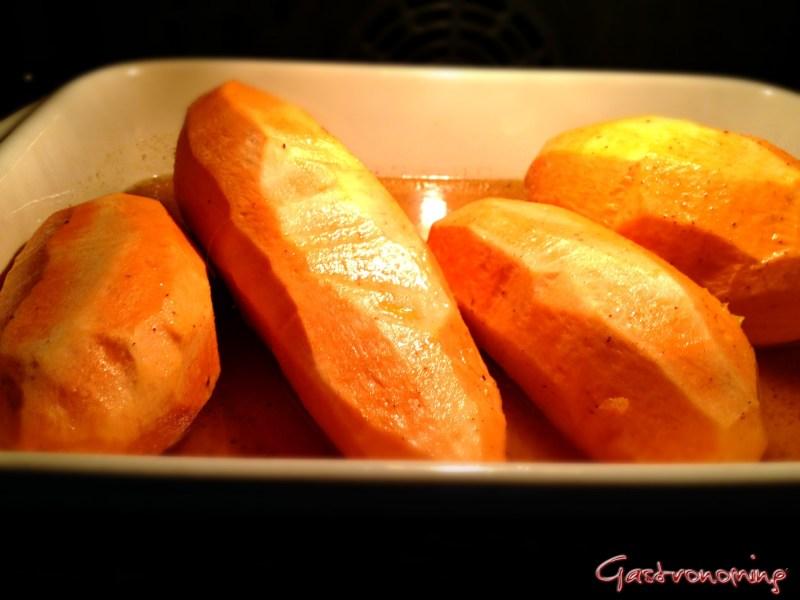 Boniatos en el horno